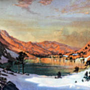 Hidden Lake Western United States Poster