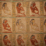 Hieroglyphic Detail Poster