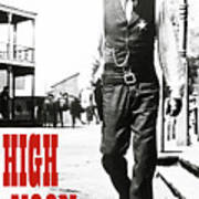 High Noon, Gary Cooper Poster