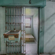 High Risk Solitary Confinement Cell In Prison Poster