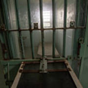 High Risk Solitary Confinement Cell In Prison Through Bars Poster