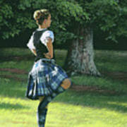 Highland Dancer Poster