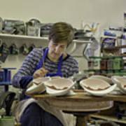 Highland Stoneware Artist At Work Poster