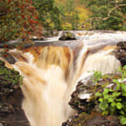 Highland Waterfall Dundonnell River Poster