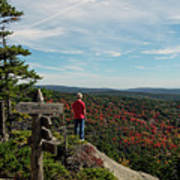 Hiker In Acadia National Park Poster