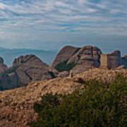 Hiking In Montserrat Spain Poster