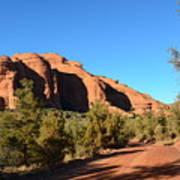 Hiking In Red Rocks In Arizona Poster