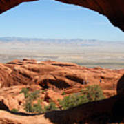 Hiking Through Arches Poster