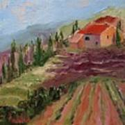 Hills Of Lavender Poster
