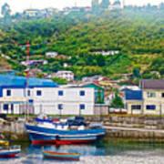 Hillside Along Harbor Near Angelo Fish Market In Puerto Montt-chile  Poster