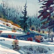 Hillside In Winter Poster