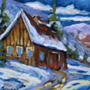 Hillsidebarn In Winter Poster