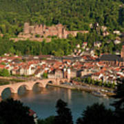 Hilltop View - Heidelberg Castle Poster by Greg Dale