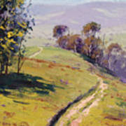 Hilly Landscape Lithgow Poster
