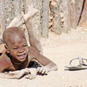Himba Boy With Sandal Poster