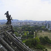 Himeji City From Shogun's Castle Poster
