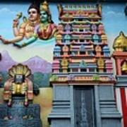 Hindu Deities On Wall Mural Of Sri Senpaga Vinayagar Tamil Temple Ceylon Rd Singapore Poster