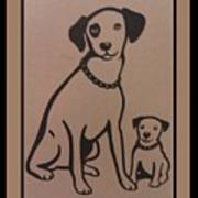 His Masters Voice - Nipper And Chipper Poster