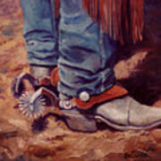 His Silver Spurs Painting Cowboy Art Poster