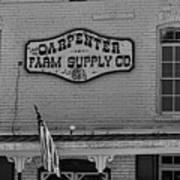 Historic Carpenter Farm Supply Sign Poster