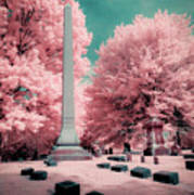Historic Cemetery In Infrared Poster