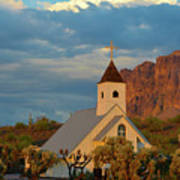 Historic Church In Superstition Mountain State Park Poster