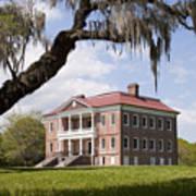 Historic Drayton Hall In Charleston South Carolina Poster