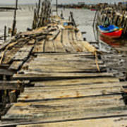 Historic Fishing Pier In Portugal I Poster