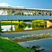 Historic Halls Mill Bridge Reflections Poster