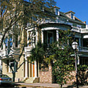 Historic Houses In A City, Charleston Poster