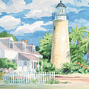 Historic Key West Lighthouse Poster