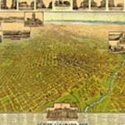 Historic Map Of Denver Poster