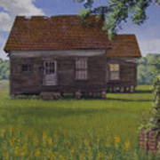 Historical Warrenton Farm House Poster