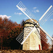 Historical Windmill Poster