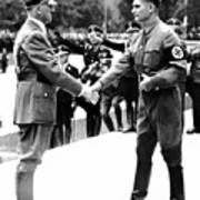 Hitler Shaking Hands With Rudolf Hess Circa 1935 Poster