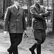 Hitler Strolling With Albert Speer Unknown Date Or Location Poster