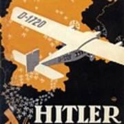 Hitler Uber Deutschland, Germany - Retro Travel Poster - Vintage Poster Poster