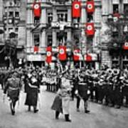 Hitler With Goering And Himmler Marching In Munich Germany C.1934-2016  Poster