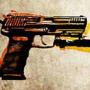 Hk 45 Pistol Poster by Michael Tompsett