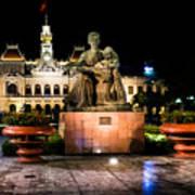 Ho Chi Minh City Hall At Night Poster