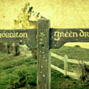 Hobbiton Signage Poster by Linde Townsend