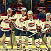 Hockey Art The Habs Fab Four Poster by Carole Spandau