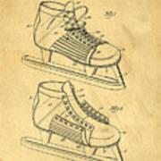 Hockey Skates Patent Art Blueprint Drawing Poster
