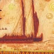 Hokulea At Anchor Poster