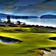 Hole #17 At Chambers Bay Poster
