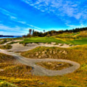 Hole #3 At Chambers Bay Poster