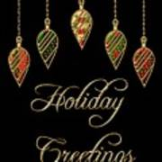 Holiday Greetings Merry Christmas Poster
