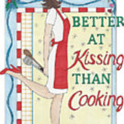 Holiday Kissing Cooking Poster