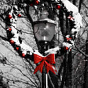 Holiday Lamp Post Poster