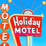 Holiday Motel Las Vegas Poster by Wingsdomain Art and Photography